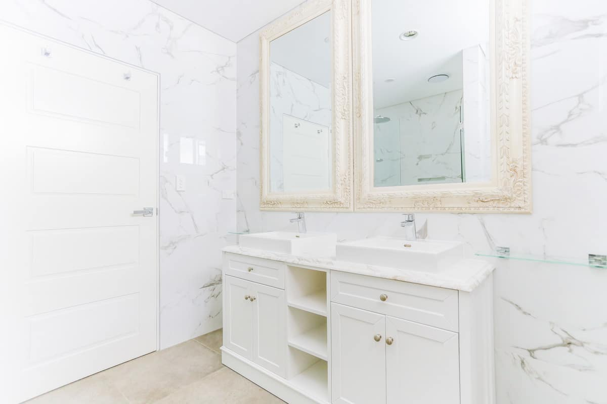 Master-Bathroom-Renovation-in-Sylvania-Sydney-with-two-mirrors