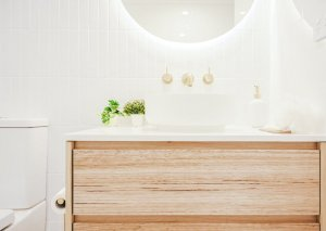 Complete-Bathroom-Renovation-in-Sydney-with-terrazo-floor-tiles-by-Nu-Trend-renovating-contractor-installing-a-Eden-White-Round-Basin