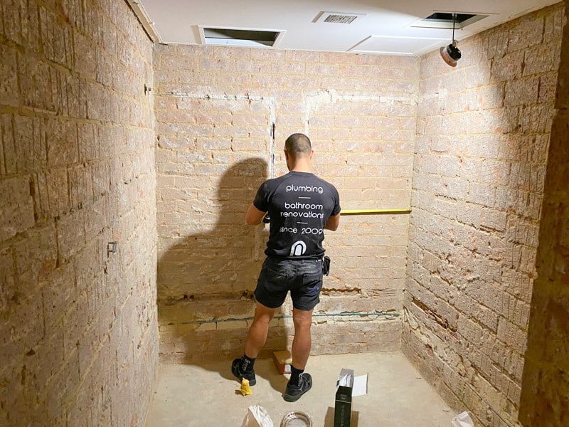 Nu-Trend-Sydney-Renovation-Contractor-Doing-a-Complete-Bathroom-Renovation-room-preparation