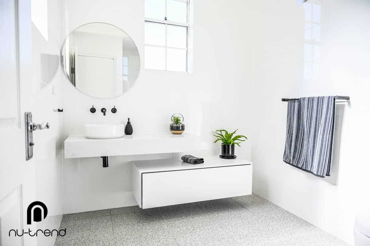 Nu Trend Sydney Renovation Company completed ensuite bathroom with Bathroom Collective hardware