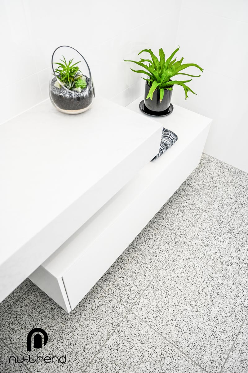 Nu Trend Sydney Renovation Company completed ensuite bathroom with new floor tiles