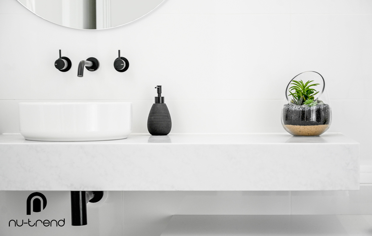 Nu Trend Sydney Renovation Company completed ensuite bathroom with new vanity installed