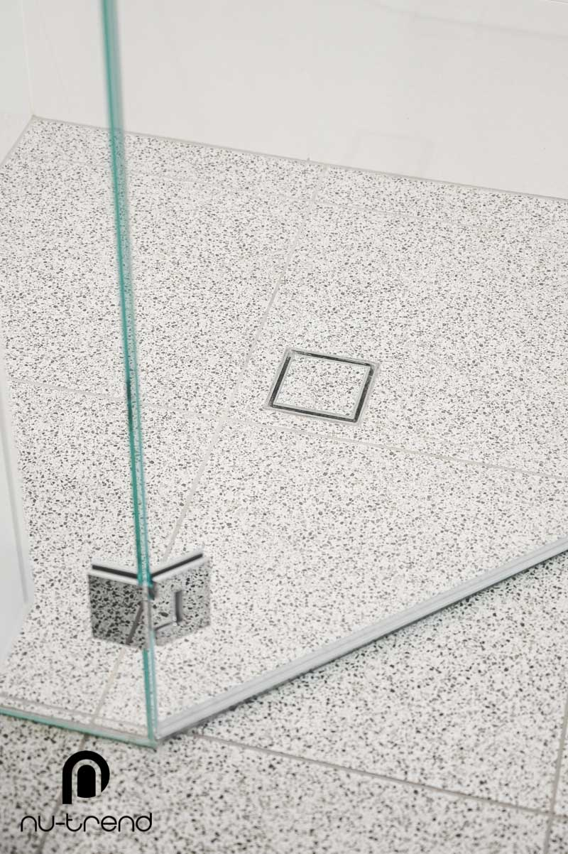 Nu Trend Sydney Renovation Company completed master bathroom with Agatte White Terrazzo floor tiles