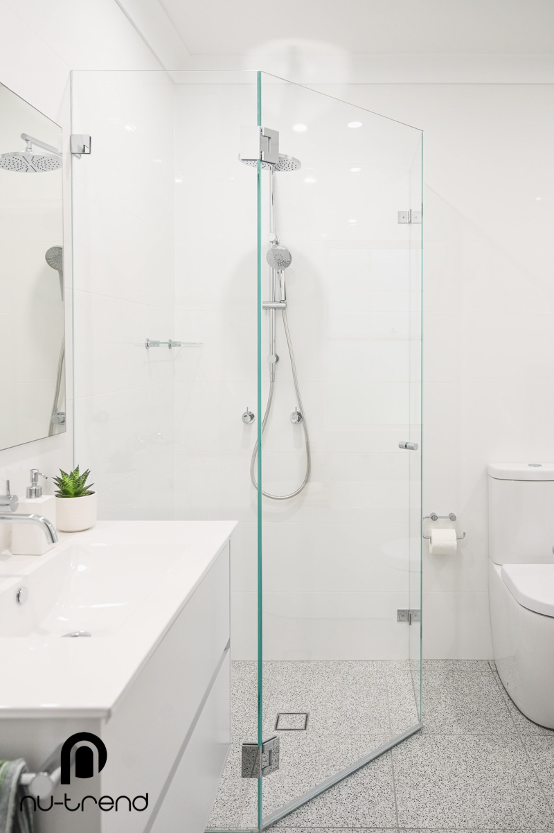Nu Trend Sydney Renovation Company completed master bathroom with Vivid Slimline Twin Shower