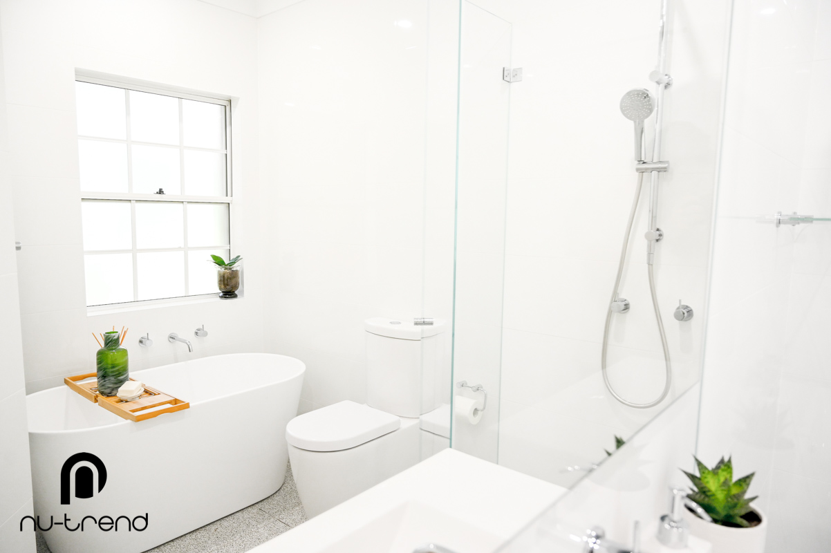 Nu Trend Sydney Renovation Company completed master bathroom with new bathtub installed