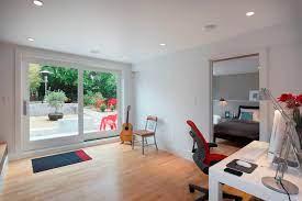 Convert outdoor garage into a studio with bathroom