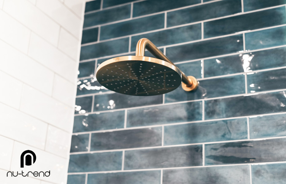 Nu Trend removing laundry from bathroom renovation in Randwick Vivid Round Shower Rose mm BGold