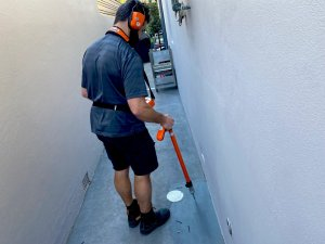 Nu Trend Hot Water Leak Detection Service in Sydney with thermal imaging equipment to find leaks quickly under houses