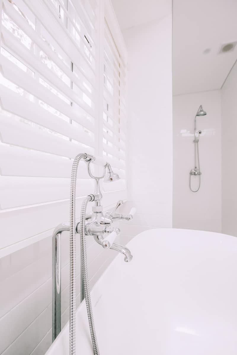 Master-Bathroom-Renovation-With-Freestanding-Bath-Tub-and-chrome-taps