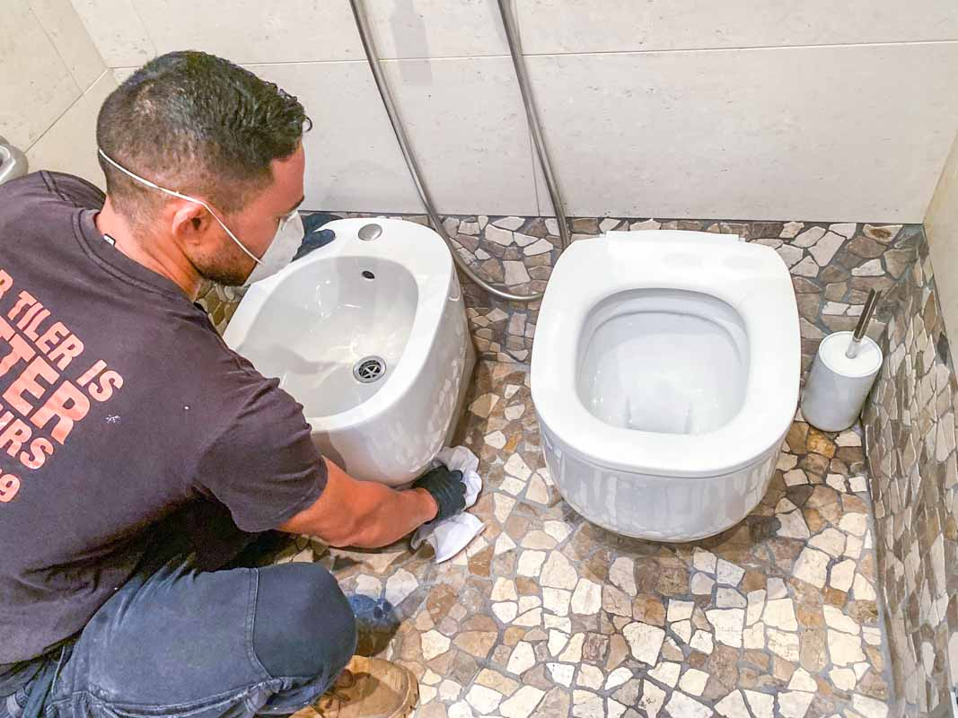 A Pozzi Ginori Bidet Installation by Nu-Trend bathroom plumbing in Sydney