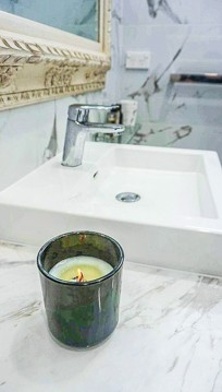 The sink in a luxury master bathroom renovation in Sydney by Nu-Trend