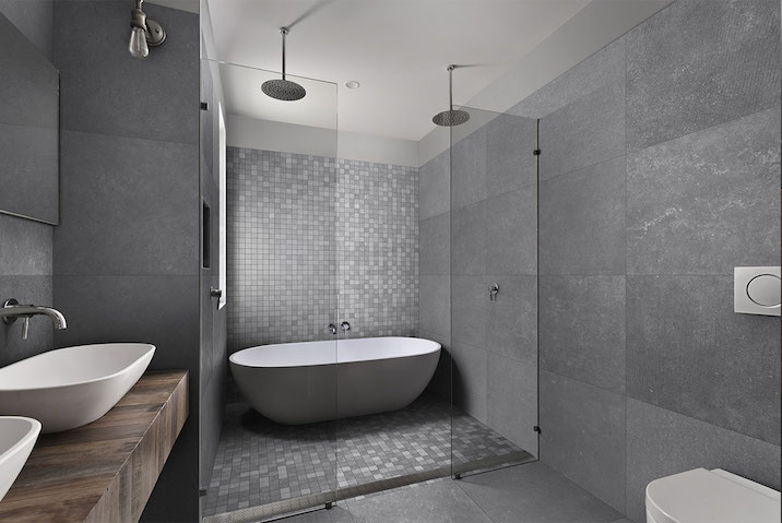 Di Lorenzo bathroom tile in the Abaco Stone Finish Tile Range