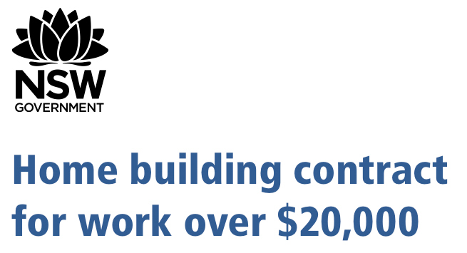 NSW Government Home Building Contract Logo