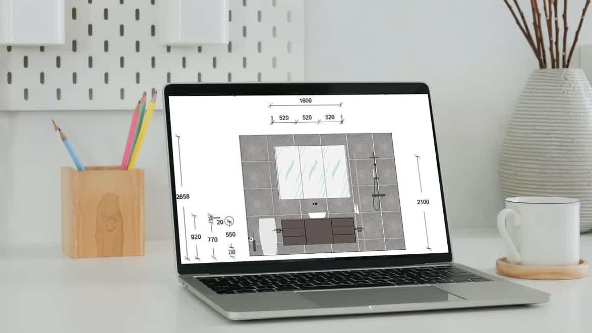 Nu-Trend bathroom renovation in Sydney including free 2D design drawings