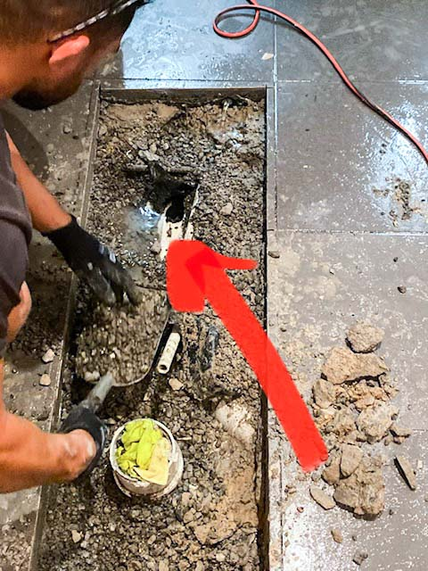 Nu-Trend plumber detecting a recurring drain blockage in Sydney-18