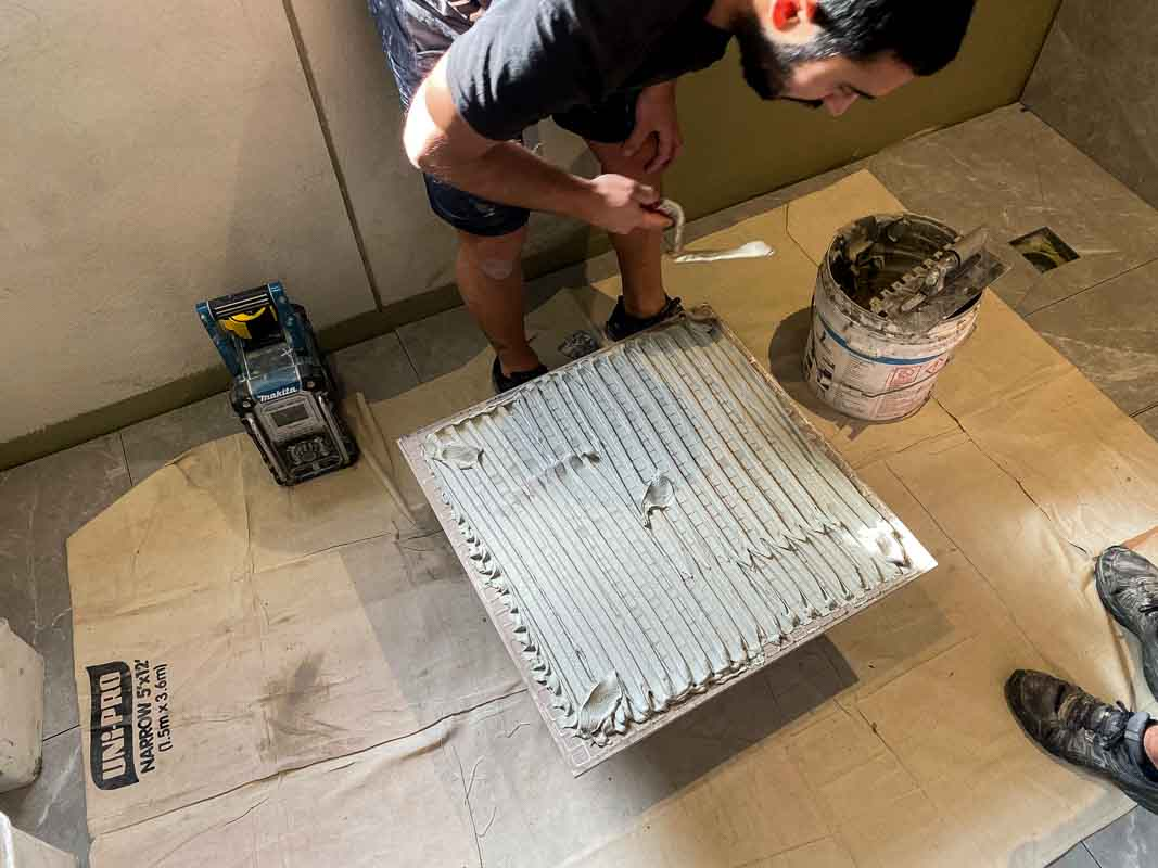 How To Apply Bathroom Tiling Adhesive