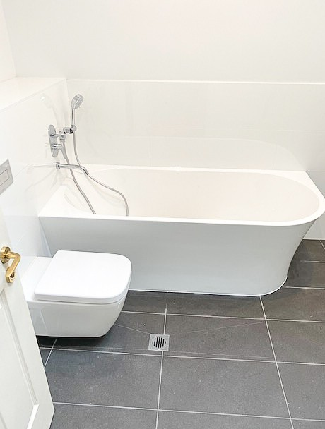 Nu-Trend trendy bath renovation for a townhouse in Bronte