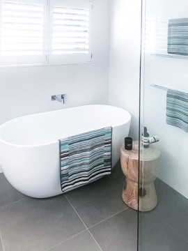 A stand alone bath in a Nu-Trend bathroom and laundry renovation in Sydney