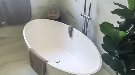 Nu Trend Bathroom Renovations on the North Shore completed project bath tub with EZY PROJECTS