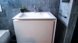 Vanity unit in a Nu-Trend Ensuite bathroom renovation designed by Boffi in Sydney